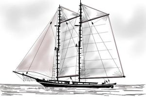 Two masted schooner by davincipoppalag