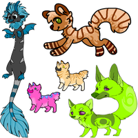 Misc Adopts batch 1 [CLOSED!] by Jinglez-Adopts