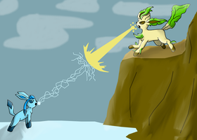 Glaceon vs Leafeon by 1-4m-m3