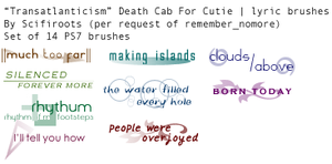 Transatlanticism Brushes by scifiroots