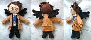 Supernatural Castiel Plush by dolphinwing
