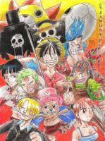 The Straw Hat Pirates by Nikkushikuu