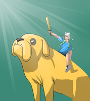 Finn and Jake by MangleDangle