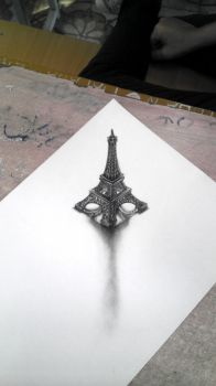 The Eiffel Tower (3D) by CompleteBlue
