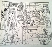 Party Lineart by Music-My-Addiction