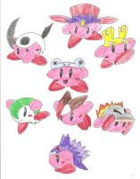 Kirby Hats: Pokemon Faves by BlackCarrot1129