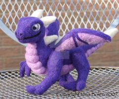 Purple Needle Felted Dragon by The-GoblinQueen
