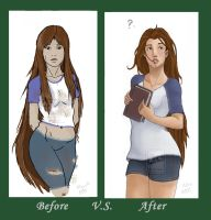Before v.s. After: Jaynie by My-Fairy-Lust