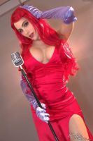 Katie Banks cosplay as Jessica Rabbit 4 by CaptPatriot2020