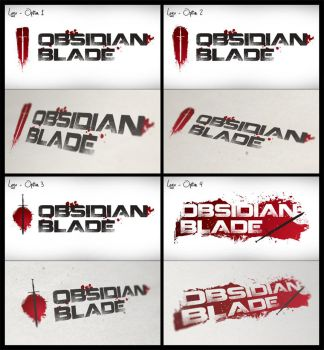 Obsidian Blade Logo Options by sketcherstud