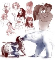 legend of korra doodles by luve