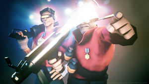 Team Fortress 2 (TF2) - Soldier n scout by ViewSEPS