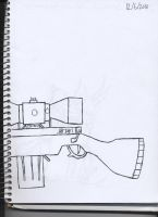 rifle lineart. by Crazychivez
