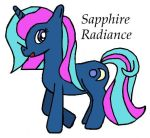 Unicorn OC: Sapphire Radiance by Closer-To-The-Sun