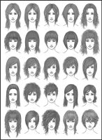 Women's Hair - Set 2 by dark-sheikah