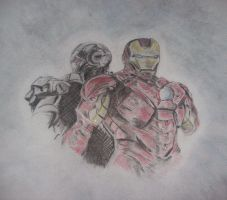 marvel ironman 2 drawing by drewcarcrazy
