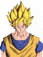 Goku Super Saiyan Colour by toms2435
