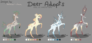 Mighty Fantasy Deer Adopts - closed by Nahemii-chan