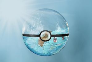 Squirtle in pokeball by Mofoh