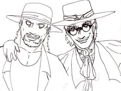 Coat,Hat and Darkness lineart by FuriarossaAndMimma