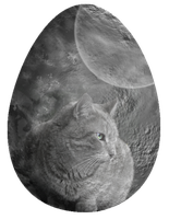 Cat on the Moon by ChiniRiA