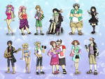 SDB Characters Volume 5 Outfit Refs by MachinegunAngel
