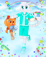 TermFox and Rainbow sky White Day by TermFox