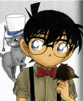 Detective conan coloration by Tuzikopalo