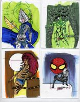 sketch cards dangerous divas13 by TomKellyART