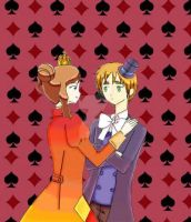 King of Diamonds and Queen of spades by almaanderson9