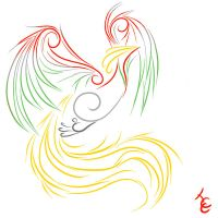 Swirly Ho-oh by Cherry-Chain