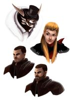 GW2 Character Portraits 2 by Paola-Tosca