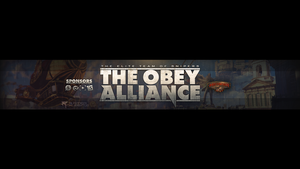 Obey Alliance Youtube Banner by OfficialRated