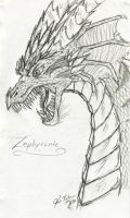 Angry Adult Zephyrante Dragon by Fia-Takaya
