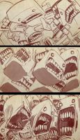 Screaming Sketches 8 by bobmeatbag
