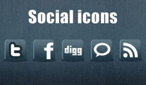 5 Free New Social Icons by webodream