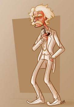 Mark 'badass' Twain by Vanjamrgan