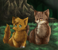 The leaf and the squirrel by FeralRingo