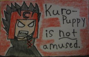 Kuro-puppy is not amused by UkeVash