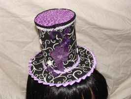 Hats.Black and Purple by FatAndSassyBoutique