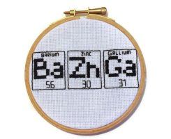 Big Bang Theory Cross Stitch Hoop Bazinga! by Over-DramaticDesigns
