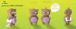 model sheet teddy bear by Littlejunko