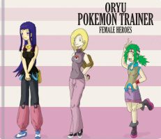 Pokemon Oryu girl hero trainer by shinyscyther