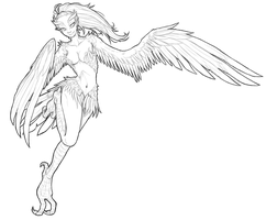 Monster Challenge - Day 1: Harpy by TehArtMonkey