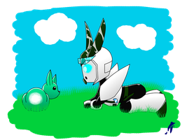 Bot and the Bunny by AnimePeep33