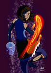 Korra: Fire and Water by RedVioletPanda