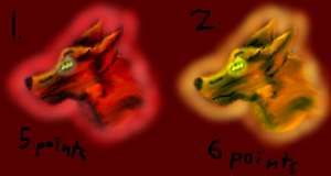 Lava Wolves-Points adoptable by xX-NIGHTBANEWOLF-Xx