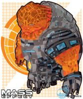 Vector Sketch 22 - Mass Effect Grunt by 347STUDIOS