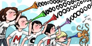 Happy IMCRD... with VUVUZELAS. by Chocoreaper