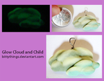 Glow Cloud and Child - GIFT by Bittythings